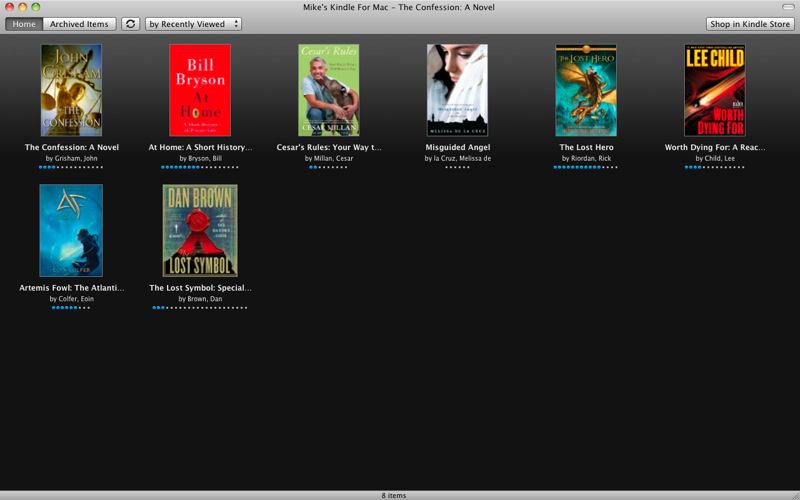 Kindle e reader app machine