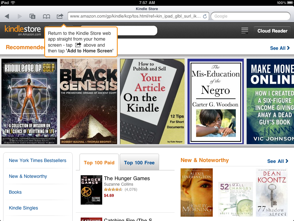 Amazon Updates Kindle Store for iPad - Best eBook Readers - photo#26