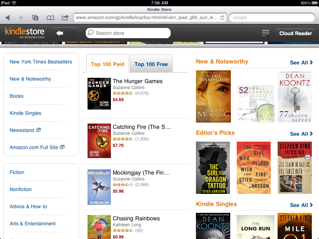Amazon Updates Kindle Store for iPad - Best eBook Readers - photo#50
