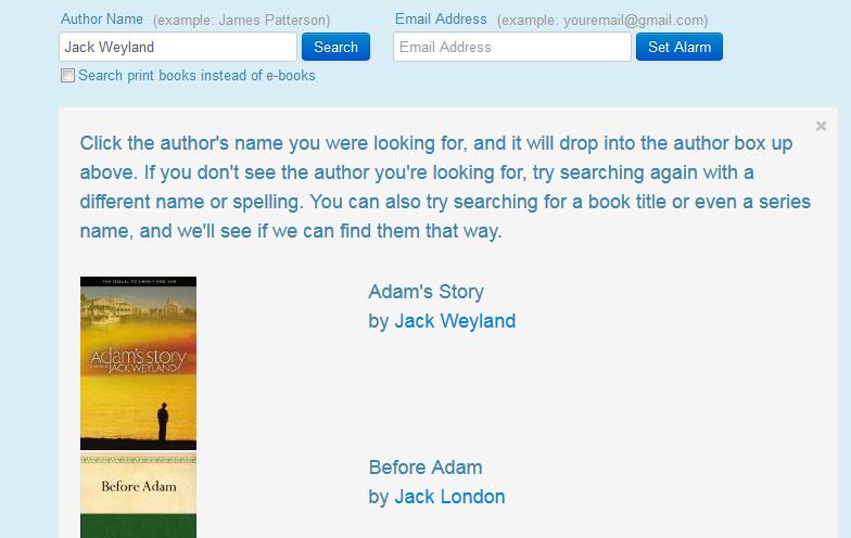author alarm