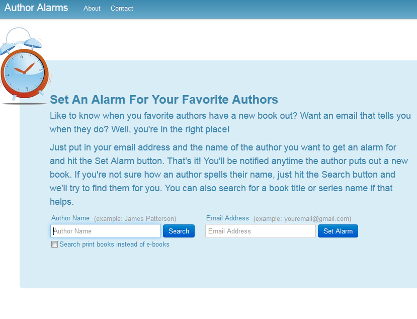 author alarms