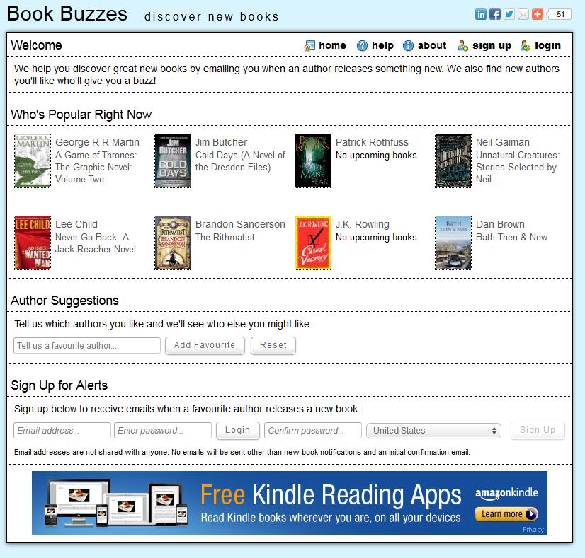 book buzzes