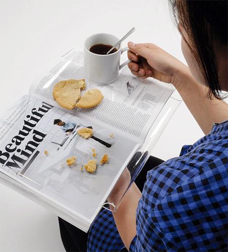 reading tray