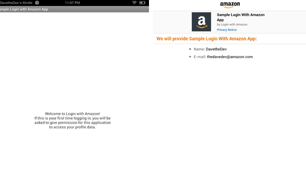 No More Passwords for Apps using Login with Amazon on Fire Devices
